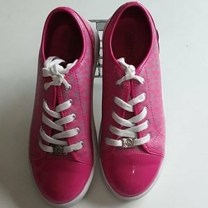 Michael Kors genuine pink logo sneakers 5 lace up